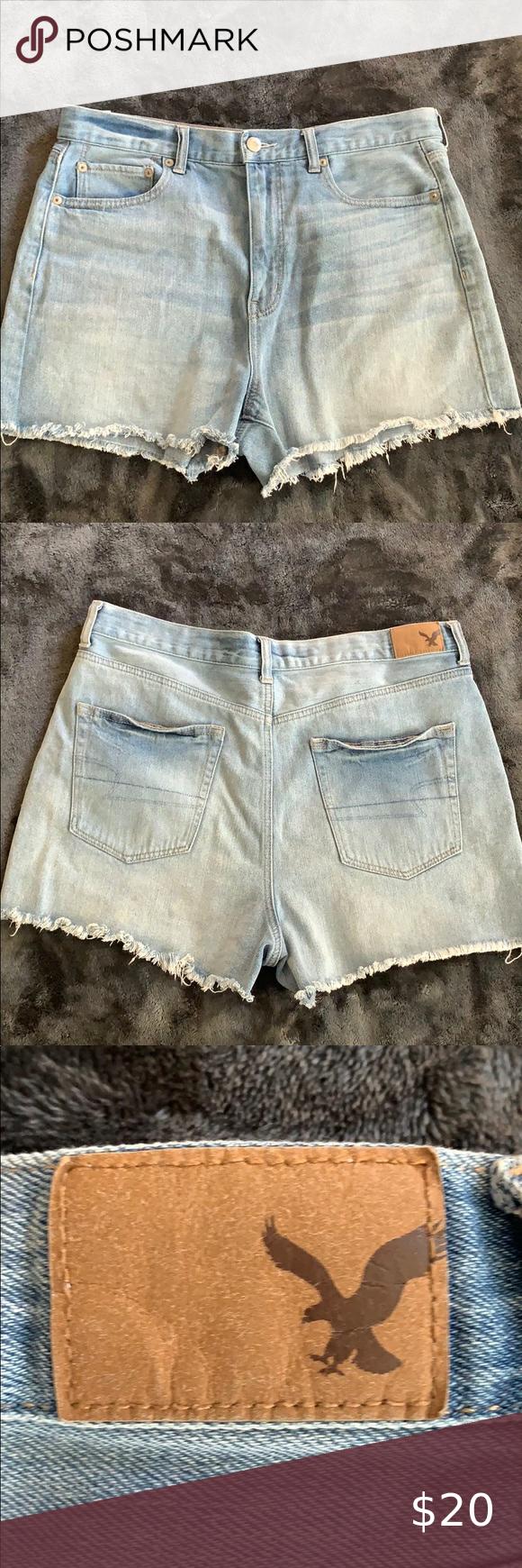 """American Eagle Denim Distressed Mom Shorts 3"""" inch"""