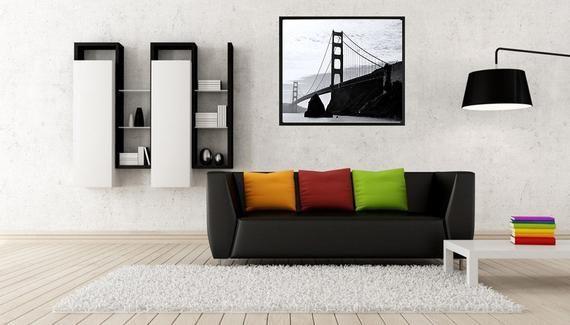 Black White San Francisco Golden Gate Bridge Photo Print Printable
