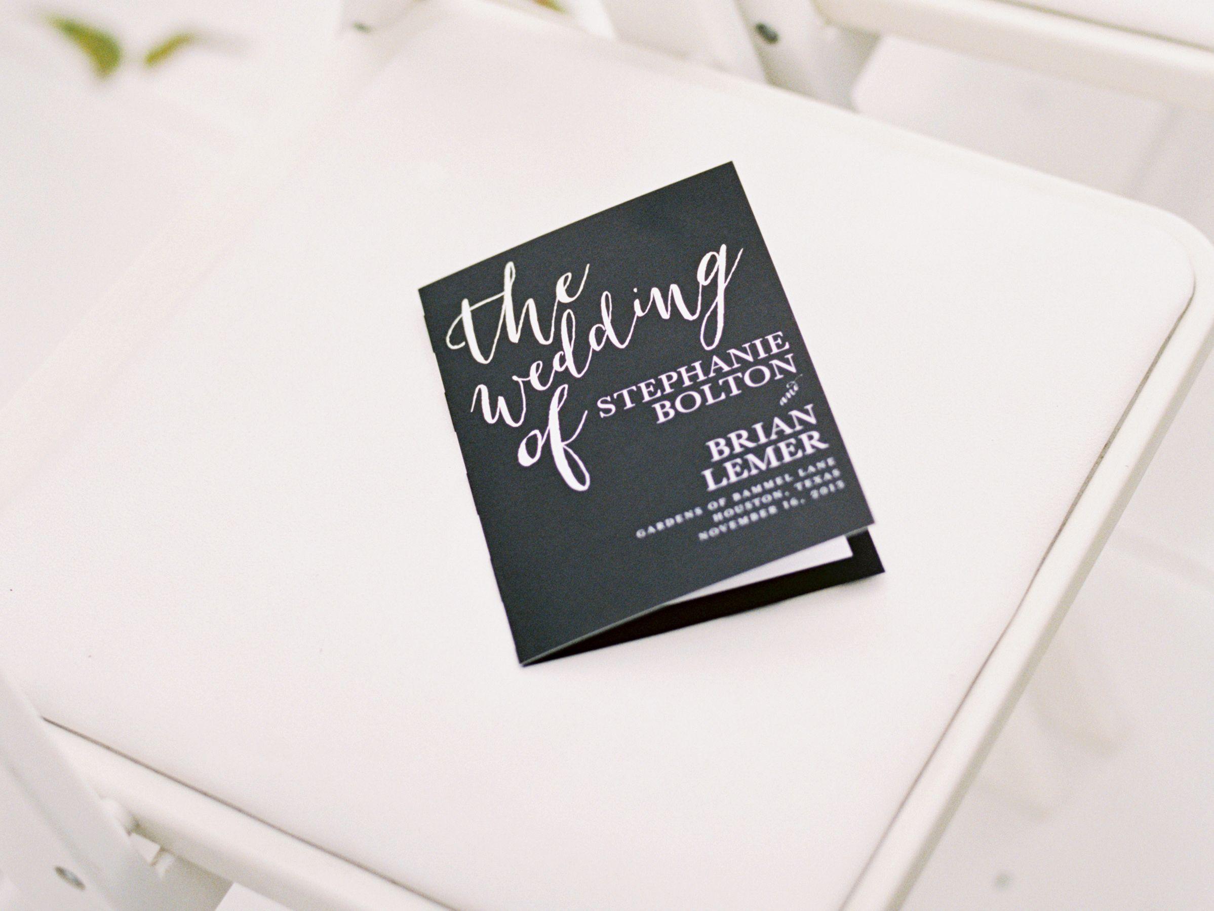 30 Ceremony Program Ideas You'll Love Wedding programs