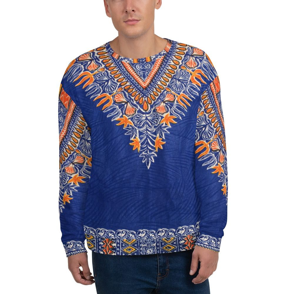 Royal Blue African Unisex Sweatshirt Caribbean outfits