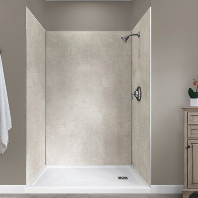Hazelwood Home Jetcoat 78 X 48 X 34 Five Panel Shower Wall