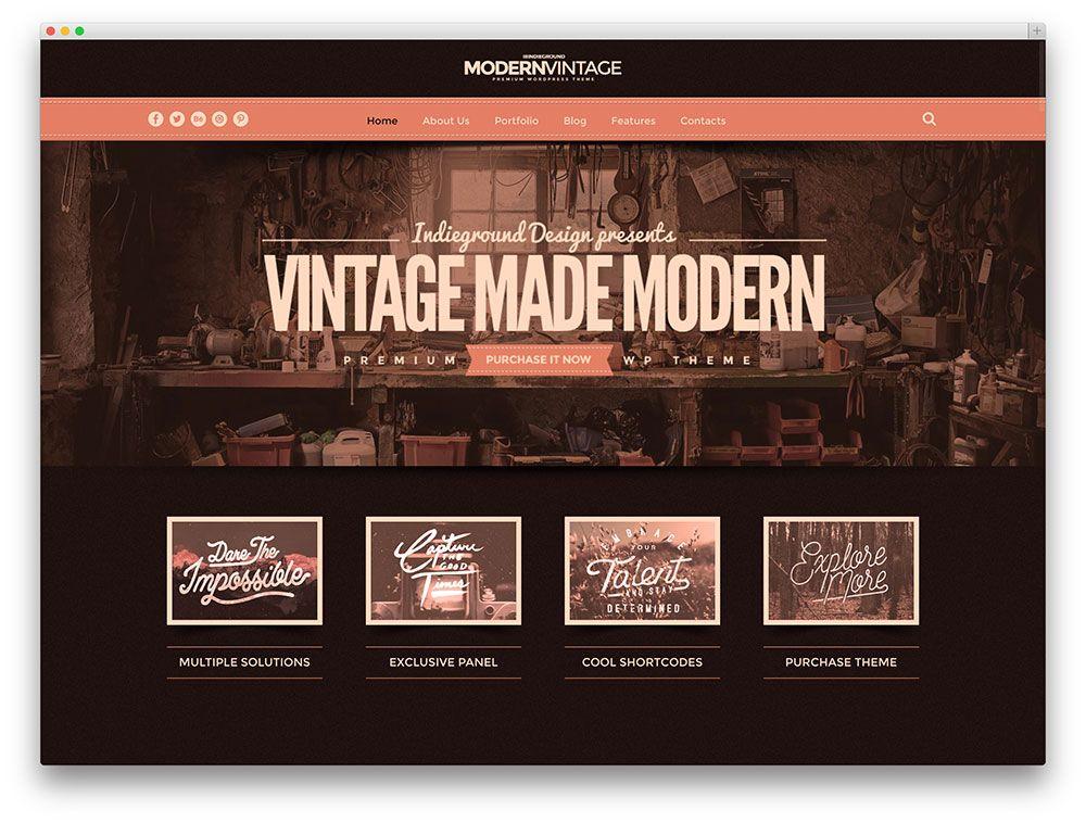 modern vintage multipurpose theme | Happy Cafe Kristof | Pinterest ...