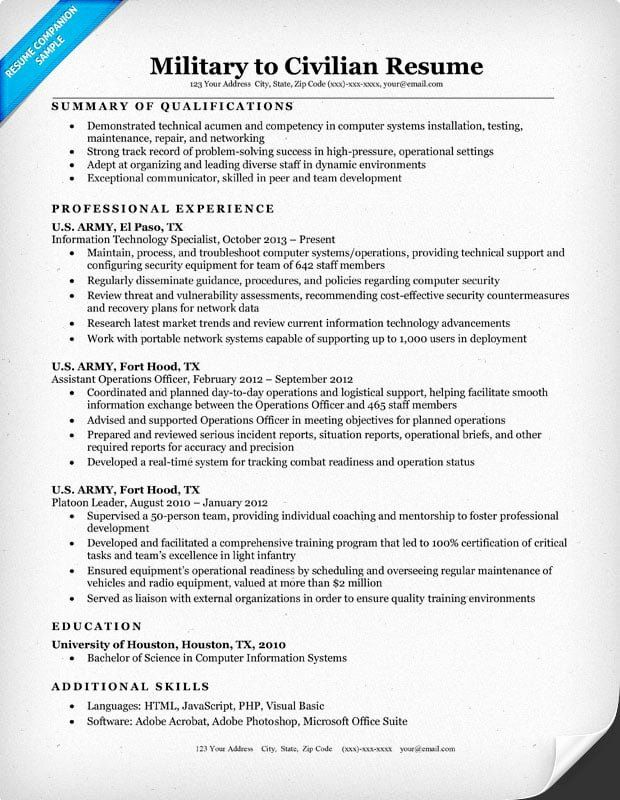 Military Resume Template Microsoft Word Unique Military to