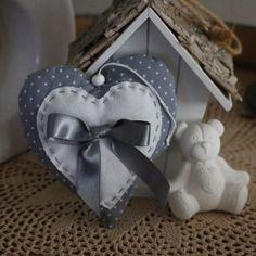 d coration de no l coeur en tissu a suspendre coeur en. Black Bedroom Furniture Sets. Home Design Ideas