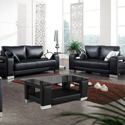 Contempo Leather Sofa And Loveseat Set, Tip Top Furniture