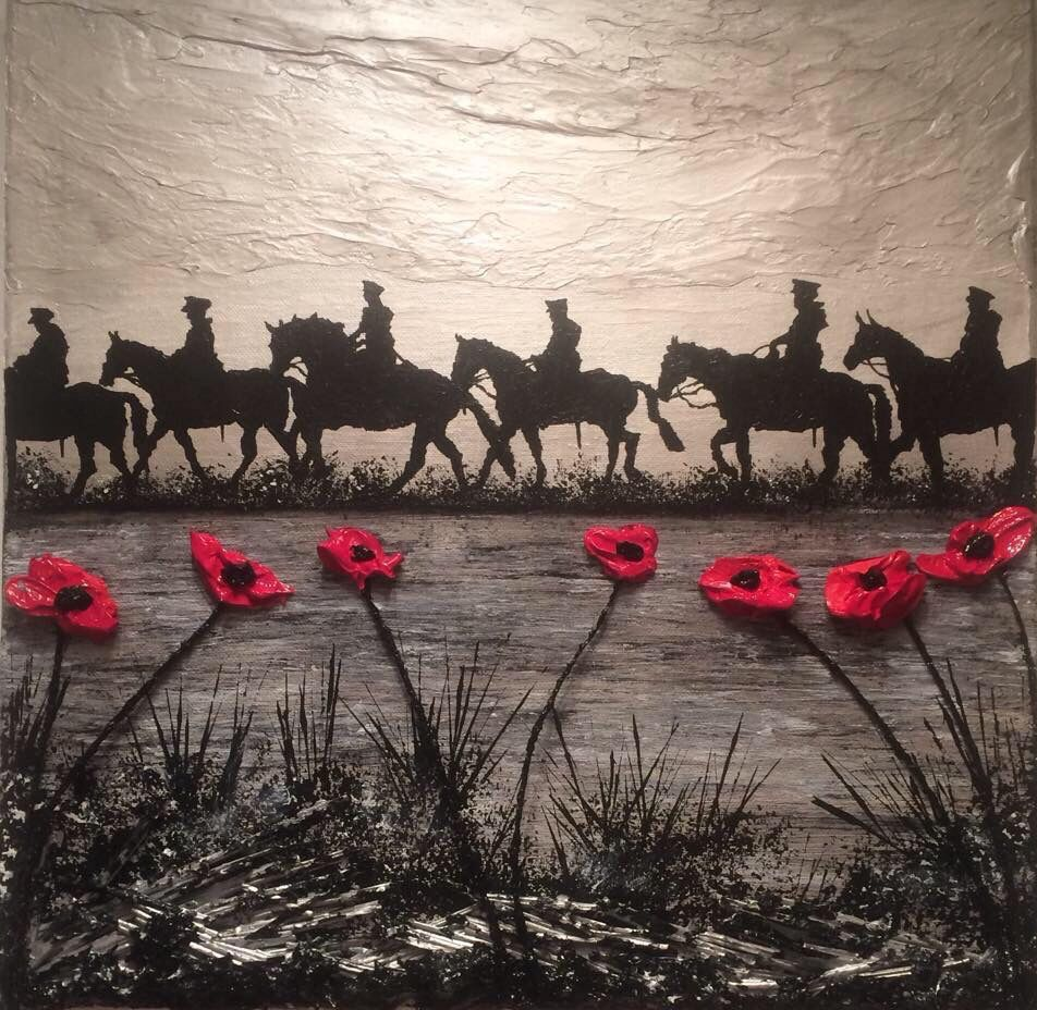 remembrance day poppy art painting by jacqueline hurley oil or