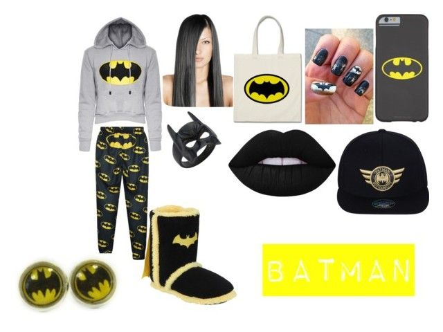 """""""Batman"""" by alejandra-22 ❤ liked on Polyvore featuring Lime Crime and black"""