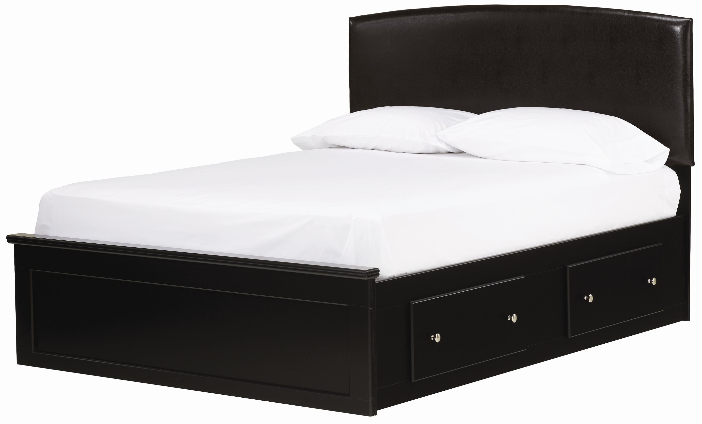 Columbia Fabric Headboard Captain S Bed Assembly In Black By Lang