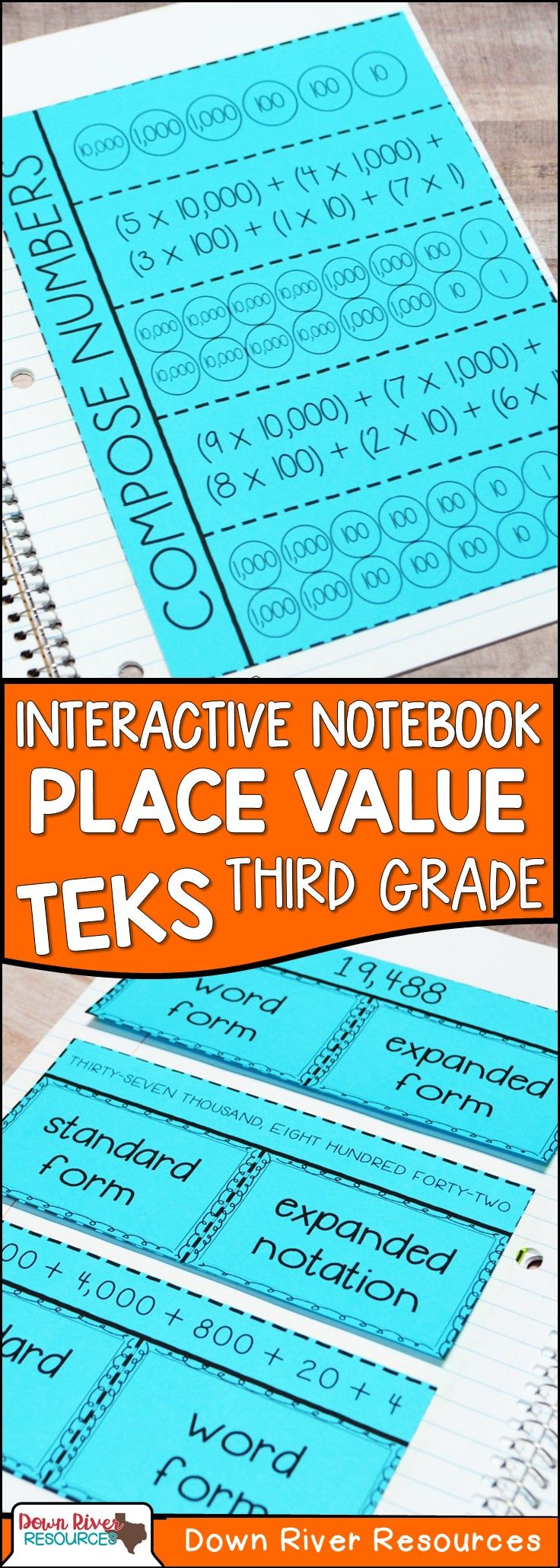 3rd Grade Place Value Building Numbers TEKS 32A Math
