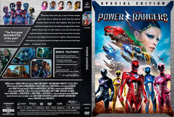 power rangers 2017 dvd custom cover custom dvd cover. Black Bedroom Furniture Sets. Home Design Ideas