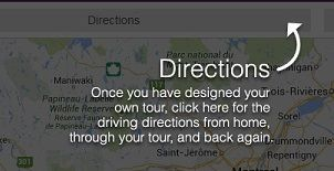 Wine ON Tour gives you customized directions for your tour - from your prefered start location and then to all the wineries that you have chosen