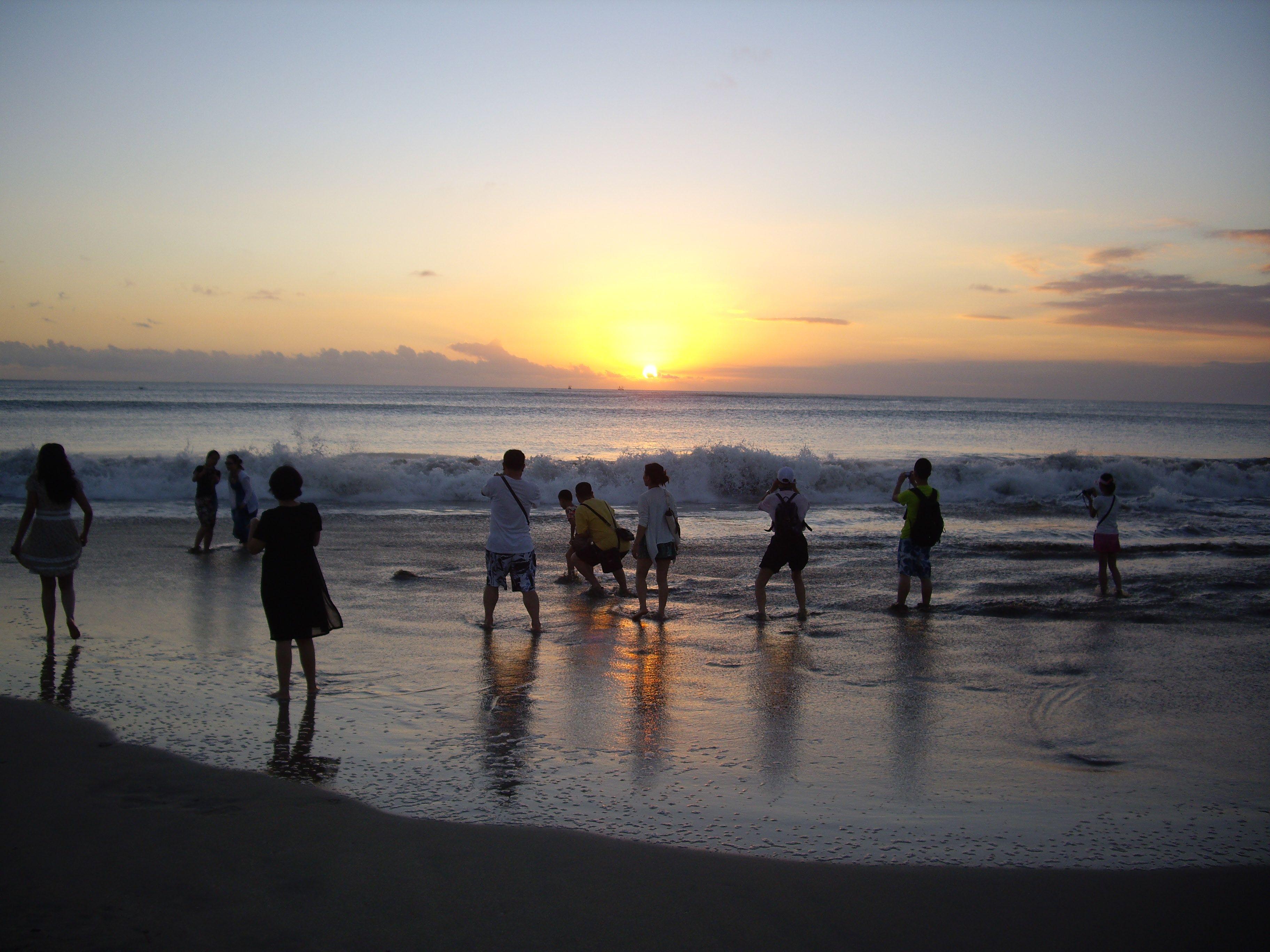 sunset at Jimbaran in Bali