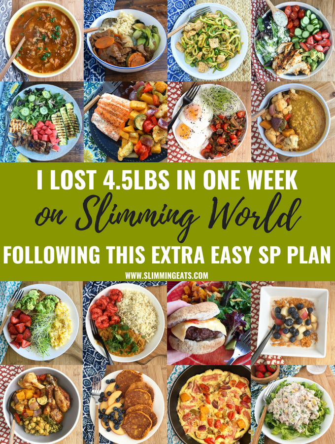I lost an amazing 4.5lbs in one week on Slimming World