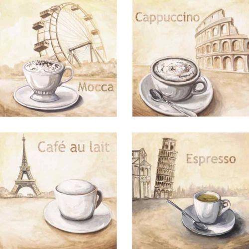 Bilder-Leinwand-Bild-Kunstdruck-Artland-4er-Set-Getraenke-Kaffee-667904CP