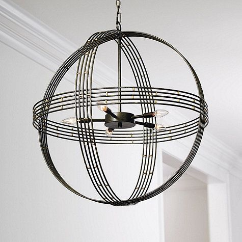 Banded Orb 5-Light Chandelier - Fun modern option for your breakfast table light