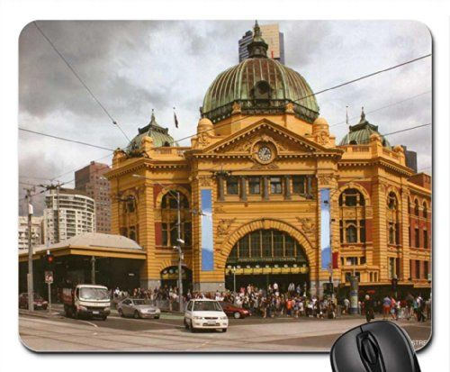 Flinders Street Train Station, Melbourne,Victoria, Australia Mouse Pad, Mousepad - http://www.homeandofficeproducts.com/flinders-street-train-station-melbournevictoria-australia-mouse-pad-mousepad/