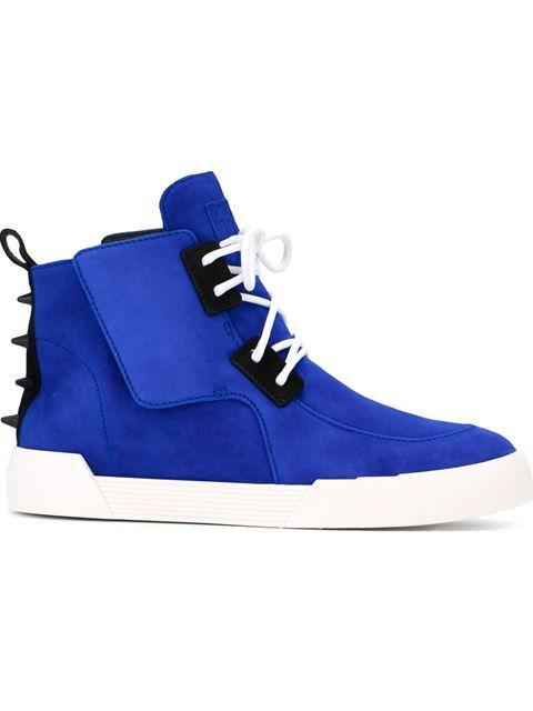 GIUSEPPE ZANOTTI 'Shark' Hi-Top Sneakers. #giuseppezanotti #shoes #sneakers