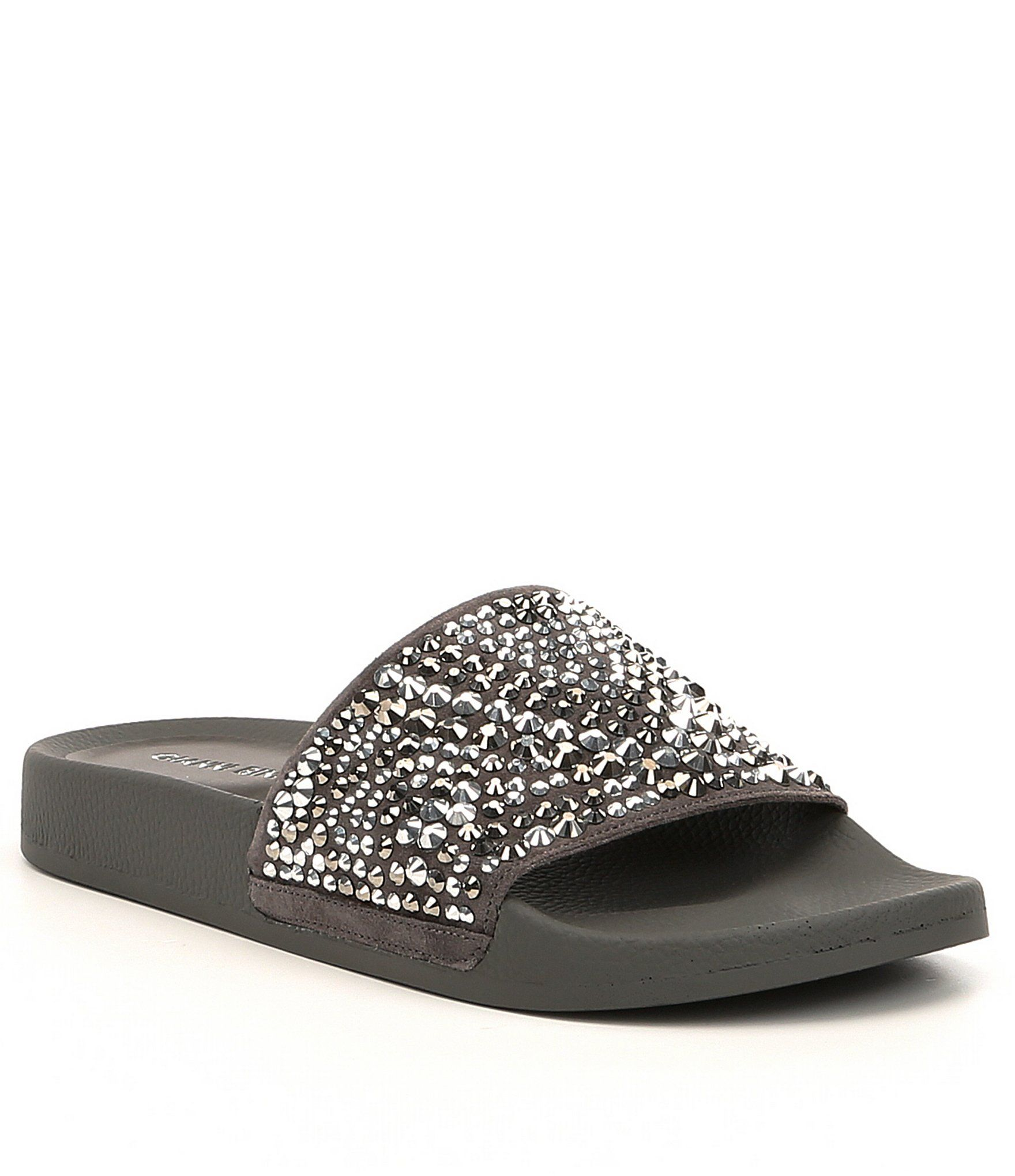 Gemella Jeweled Suede Slide Sandals bxxwHuPo