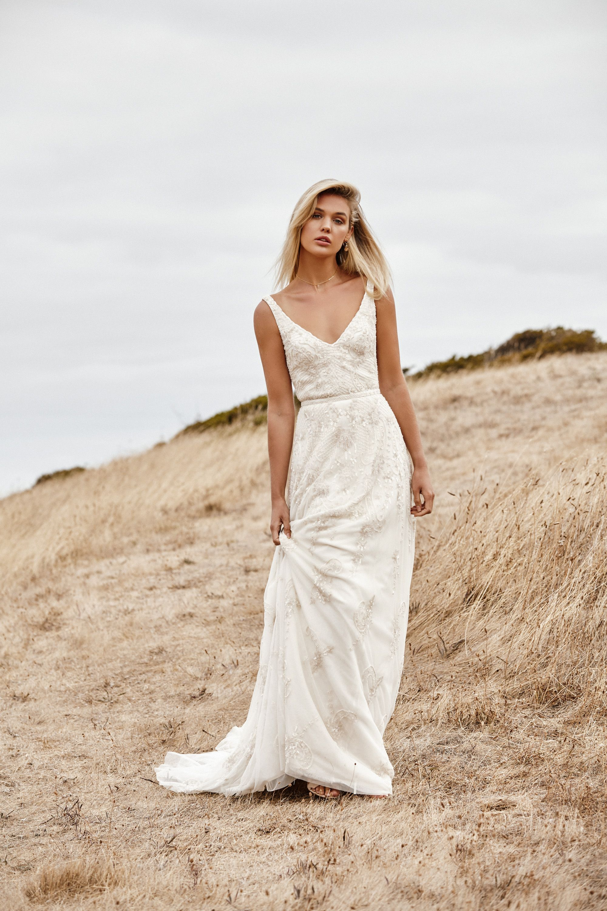 Beatrice in 2020 Beaded wedding gowns, Wedding dresses