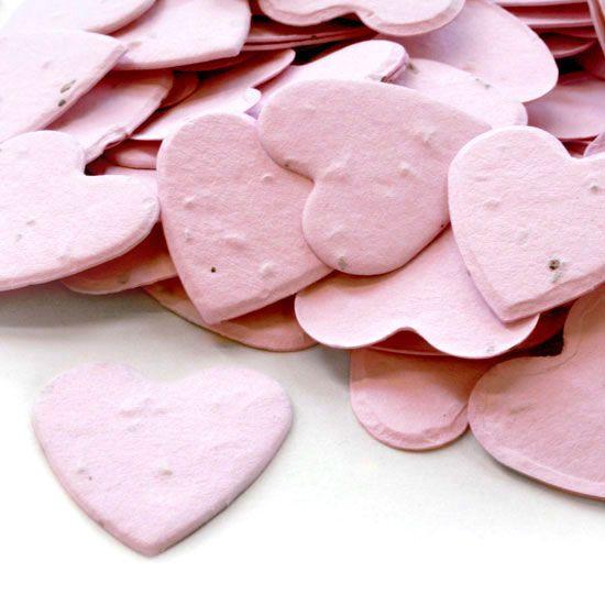 pflanzbare konfetti herzen in light pink pompom your life fruehlingshochzeit pinterest. Black Bedroom Furniture Sets. Home Design Ideas