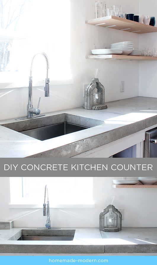 Latest Episodes Homemade Modern Concrete Countertops Kitchen Concrete Kitchen Diy Kitchen Countertops