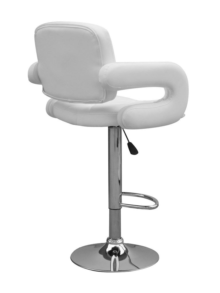 Interior Illuminated Modern White Leather Bar Stools From The Various Designs Of White Leather Bar Stools