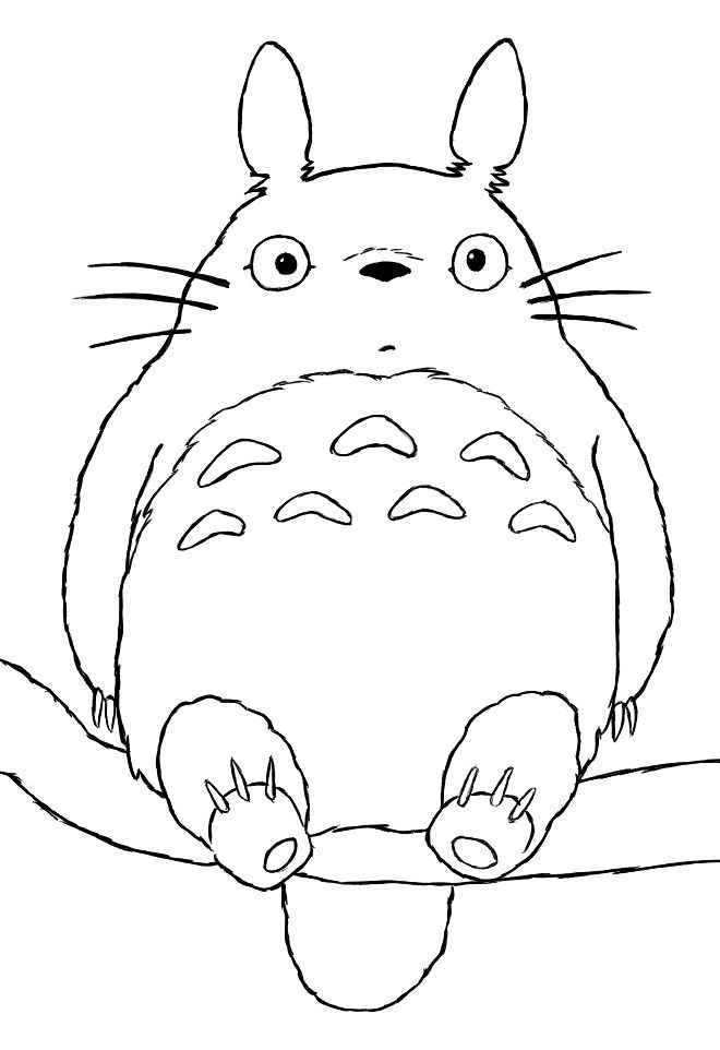 Totoro Coloring Page By Howtodrawmanga3d Deviantart Com On