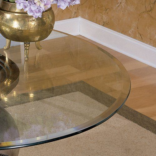 Powell 48 Inch Round Glass Table Top 10mm With 1 Inch Bevel Edge For