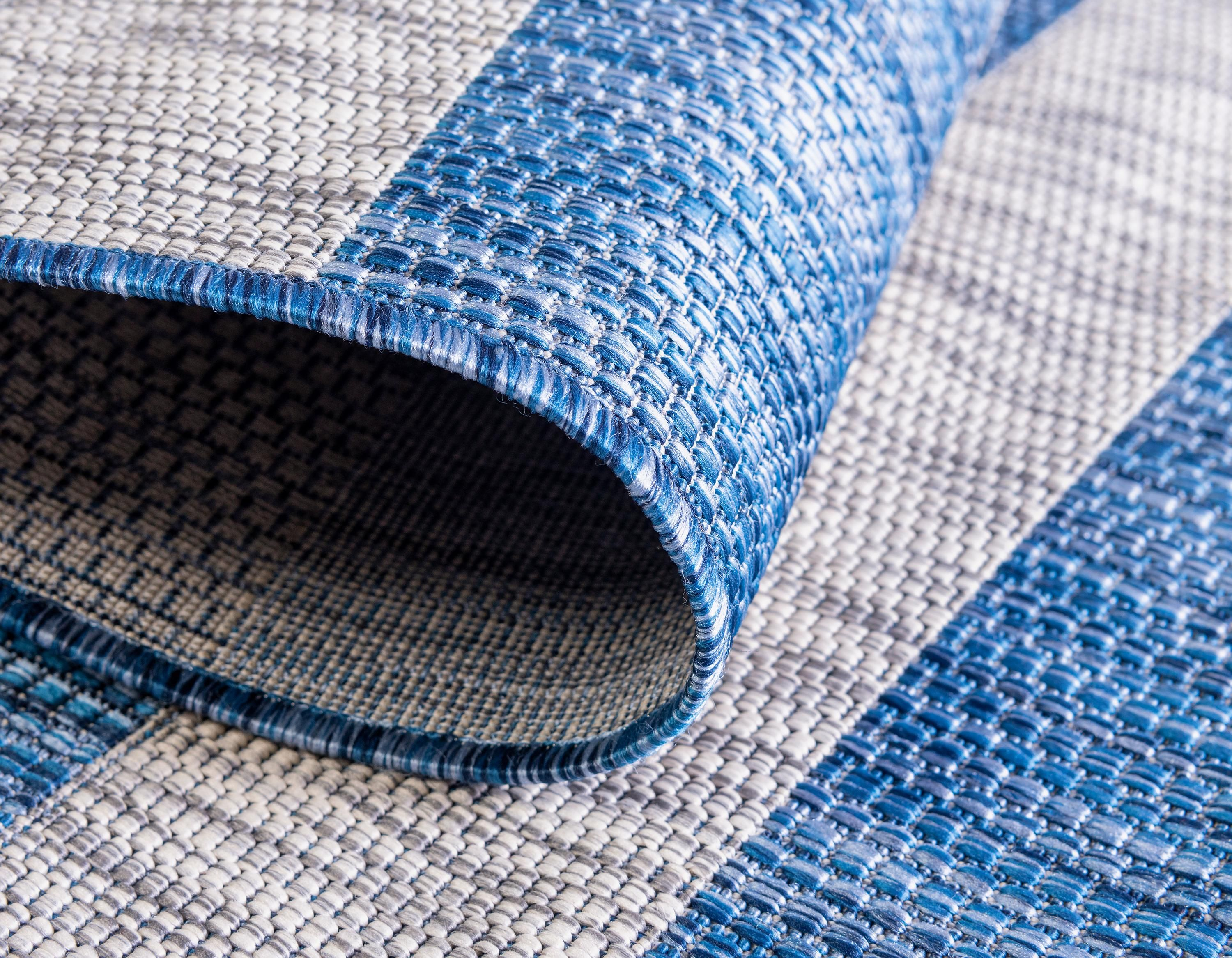 Blue 9 X 12 Outdoor Striped Rug Ad Blue Outdoor Rug