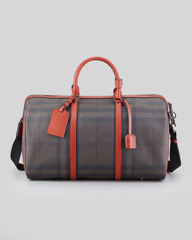 966ff1cc69e5 Burberry Men s Coated Check Duffel Bag