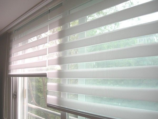 White Illusion Dual Shades Illusion Shades For Your Home