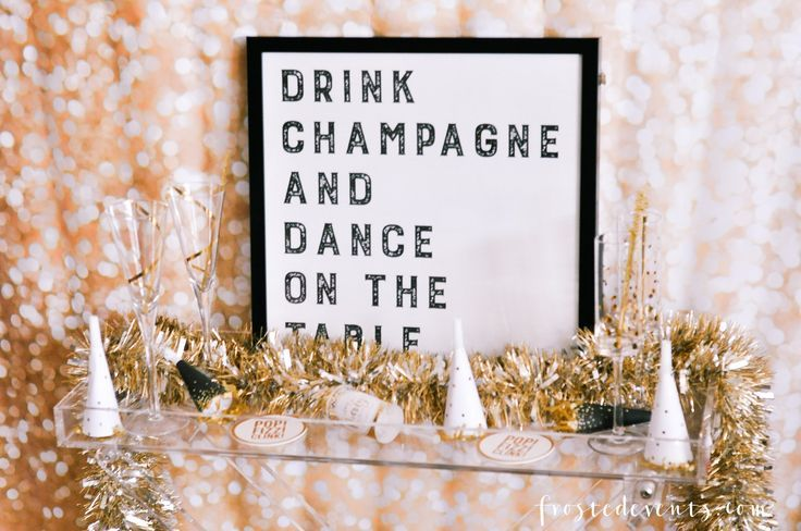 New Years Eve Party Ideas A Sparkling Cocktail Recipe New Years Party Ideas