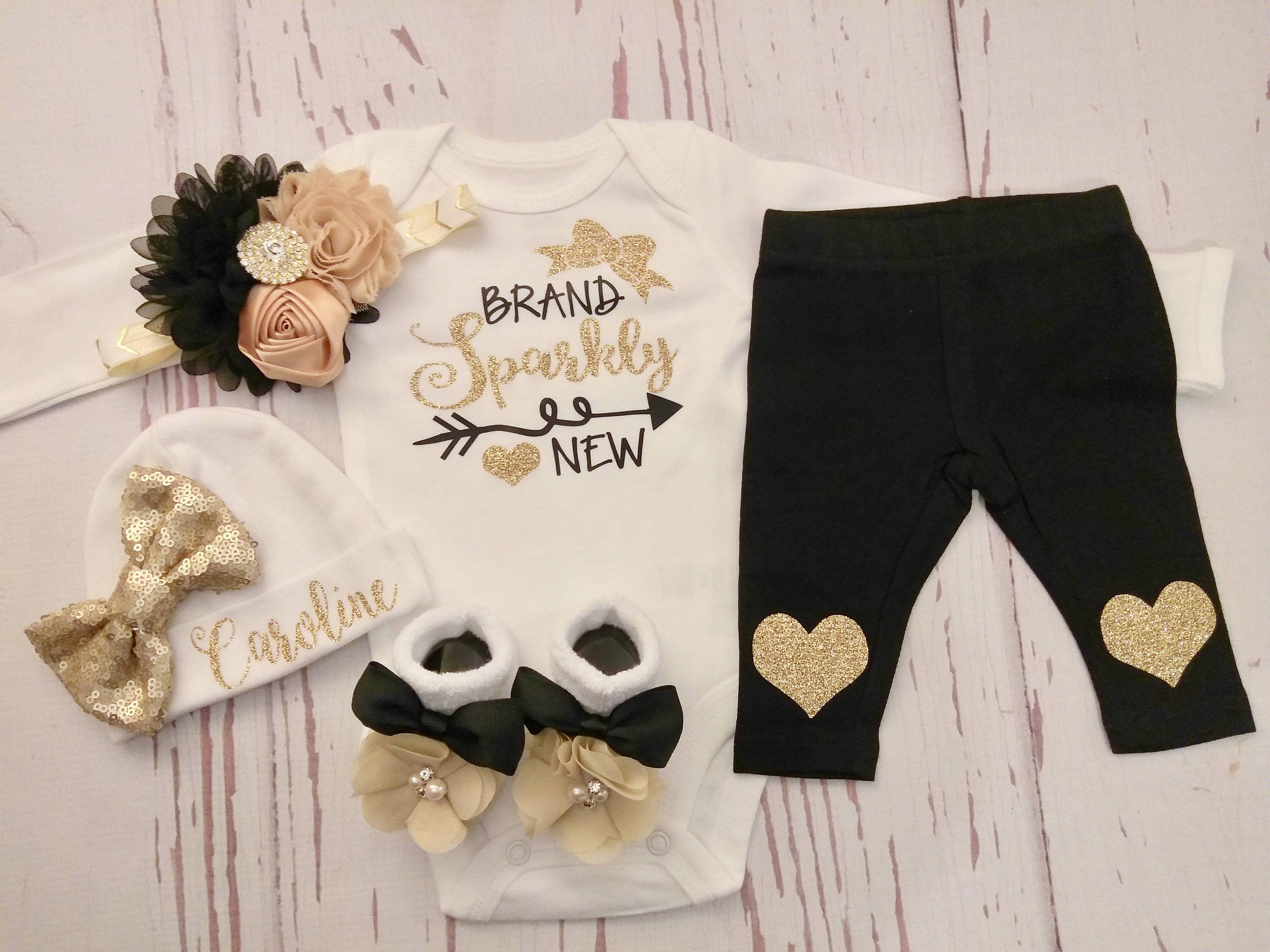 baby girl, coming home outfit, newborn, baby, girl clothes, take