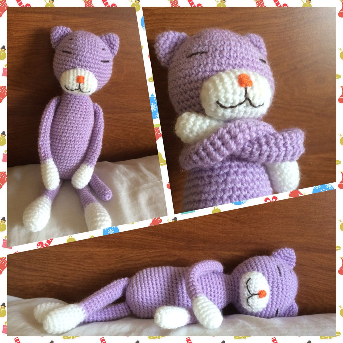 My first amigurumi: sleeping cat