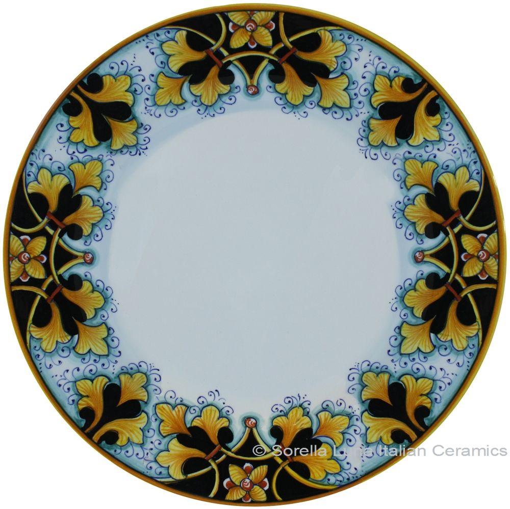 ceramic-majolica-dinner-plate-fleur-de-lis-bk-  sc 1 st  Pinterest & ceramic-majolica-dinner-plate-fleur-de-lis-bk-br-29cm | Plates ...