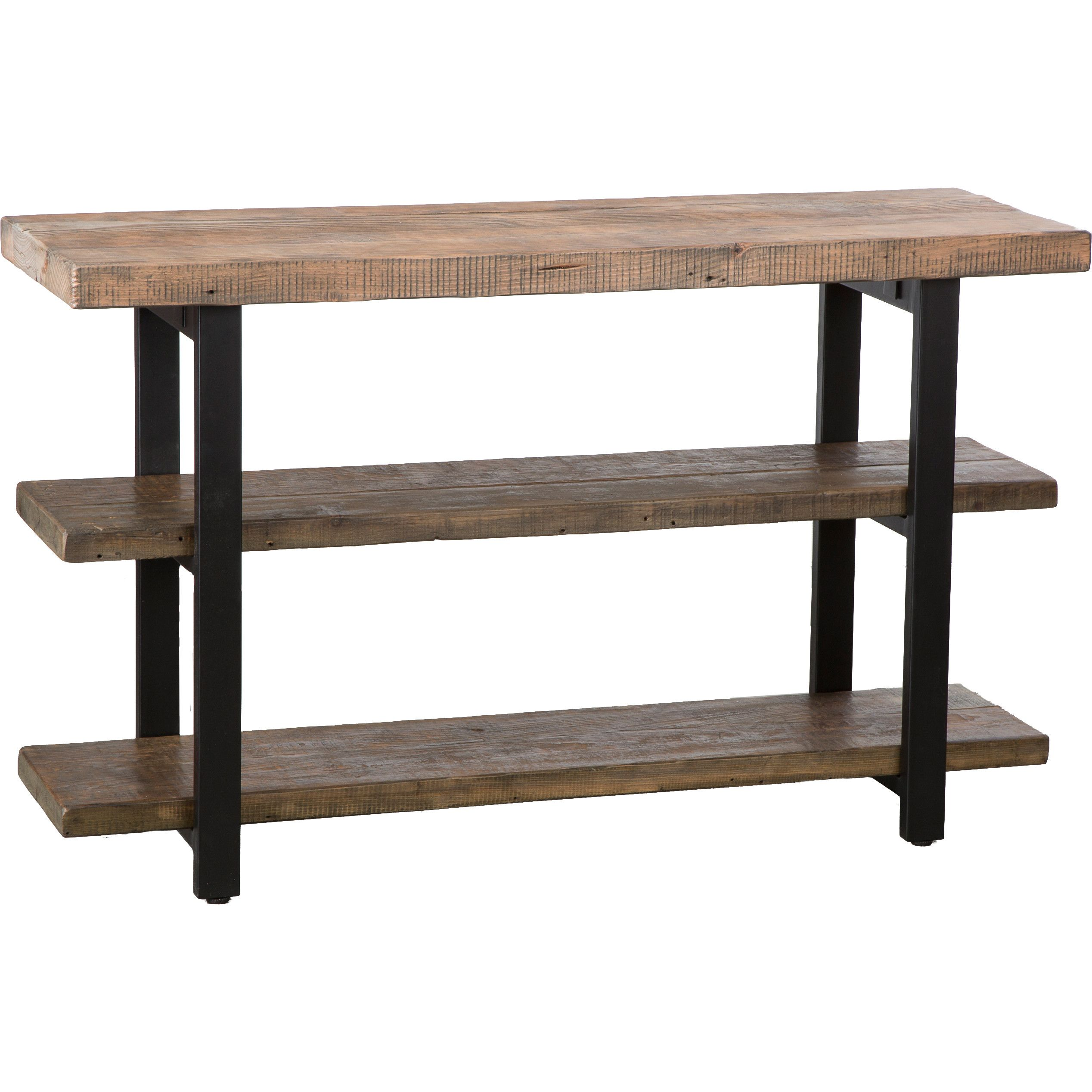 Loon Peak Somers Media Stand Console Table Rustic Console Tables Reclaimed Wood Console Table Rustic Consoles [ 2536 x 2536 Pixel ]