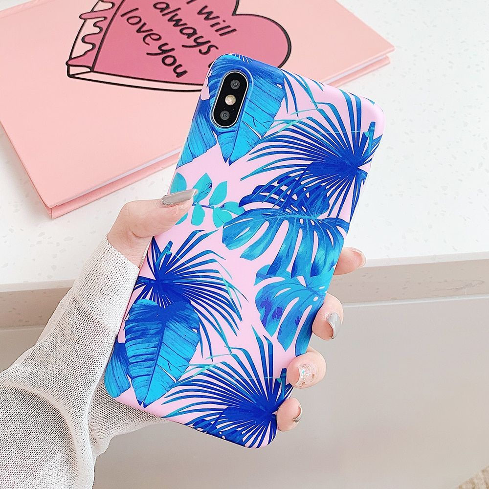Vintage Banana Leaves Phone Case For iPhone 11 Pro Max XR