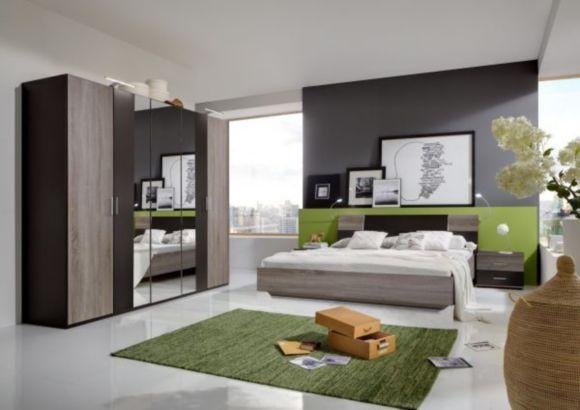 Elegantna spavaća soba u kombinaciji boje lave s imitacijom - schlafzimmer set 180x200