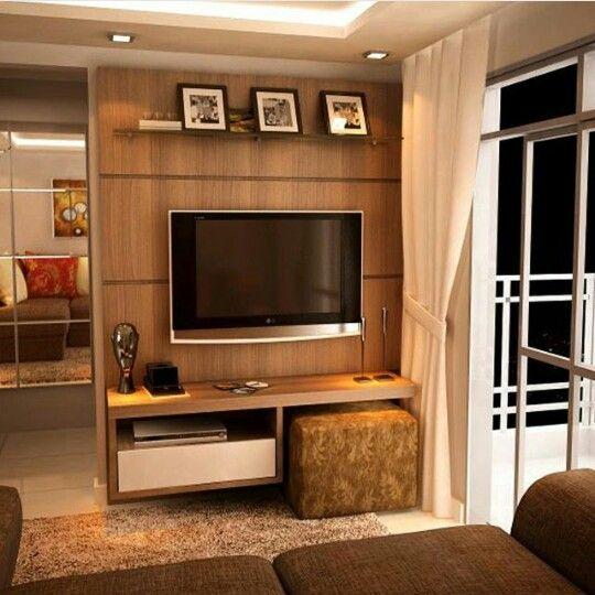 Home Entertainment Spaces: Painel Home Theater Com Espaço Para O Puff!
