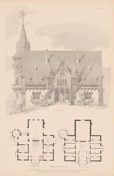 Jagdhaus Promnitz Aus Atlas zur Zeitschrift für Bauwesen hrsg v G Erbkam Jg 22 1872