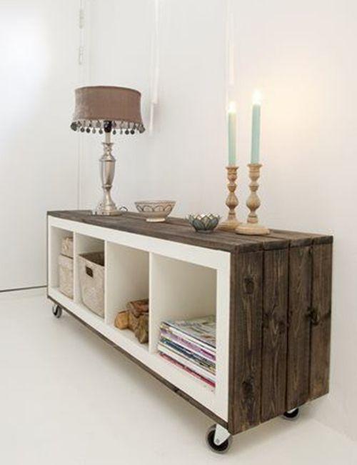 Cómo transformar muebles de Ikea tunear estanterías Ikea Expedit con ...