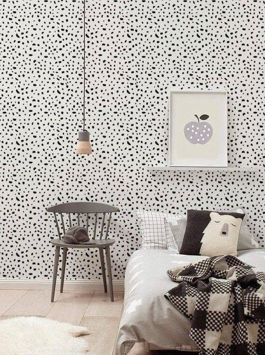 Self adhesive vinyl wallpaper, wall decal – Cheetah pattern- 072 MIDNIGHT/ SNOW