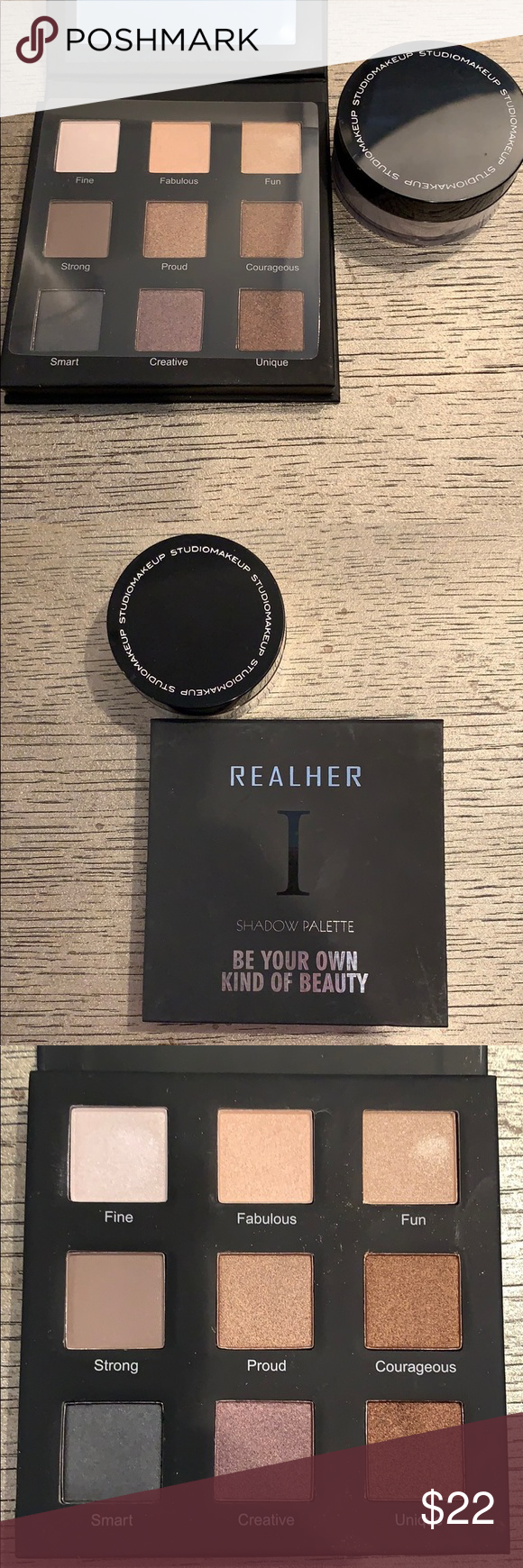 Realher eyeshadow palette and Finishing Powder NWT