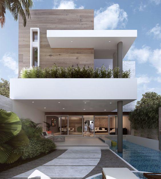Sensacional cuadrada y minimalista casas modernas for Casa minimalista grande