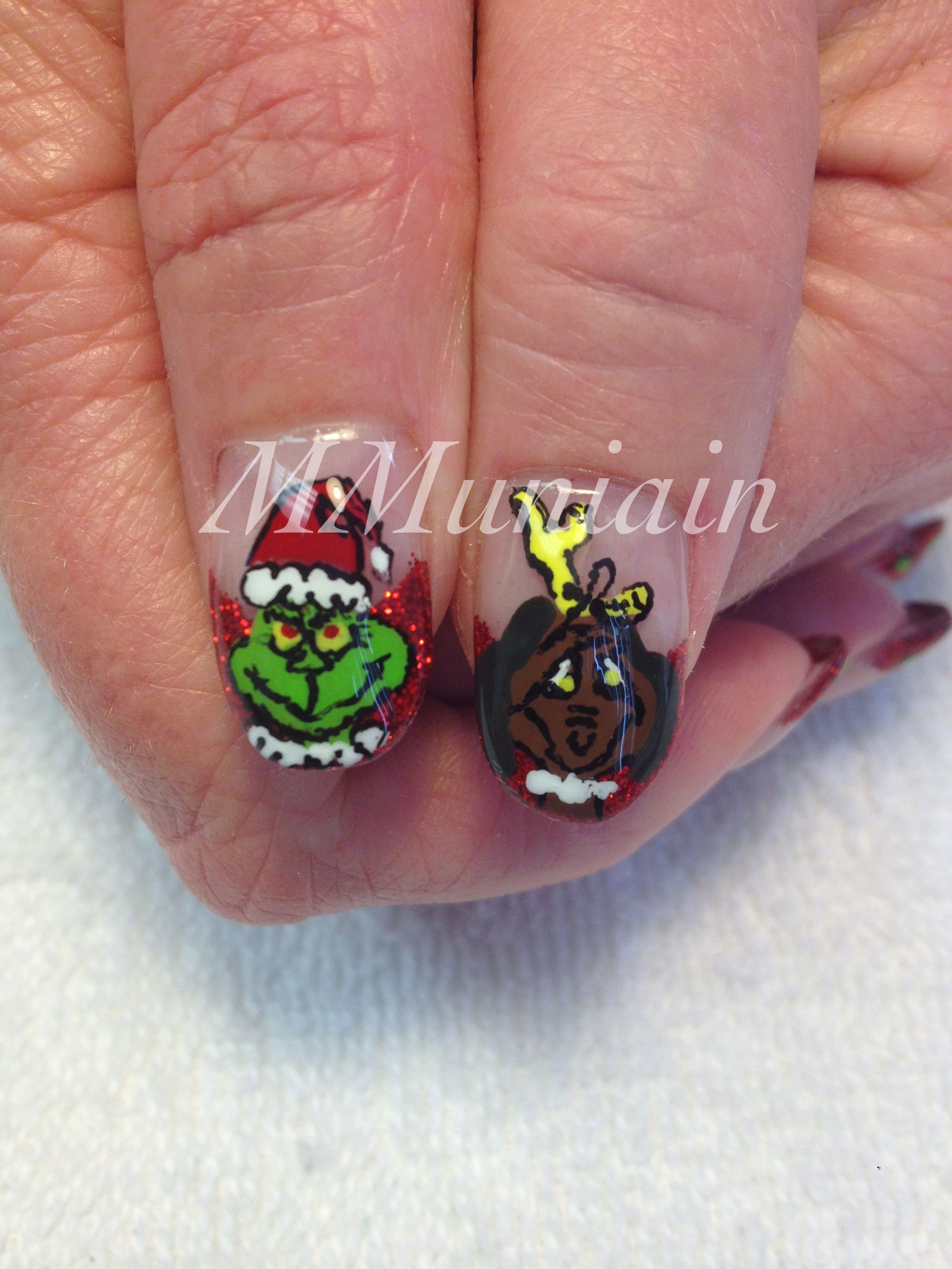 Grinch Nails | Nails | Pinterest | Grinch and Pedicures