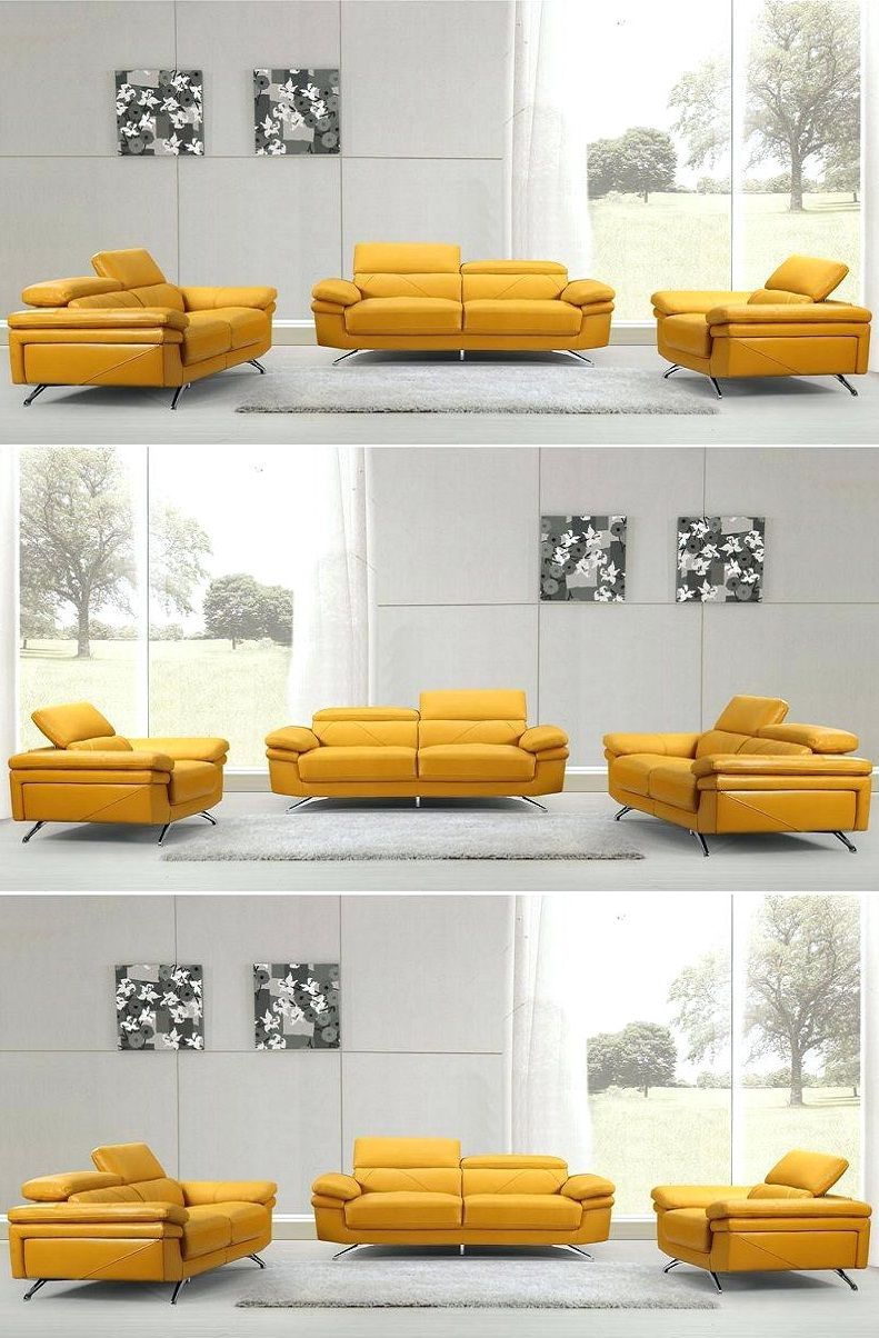 Yellow Leather Sofa Set 2019 Yellow Leather Sofas Leather Sofa Set Latest Sofa Designs