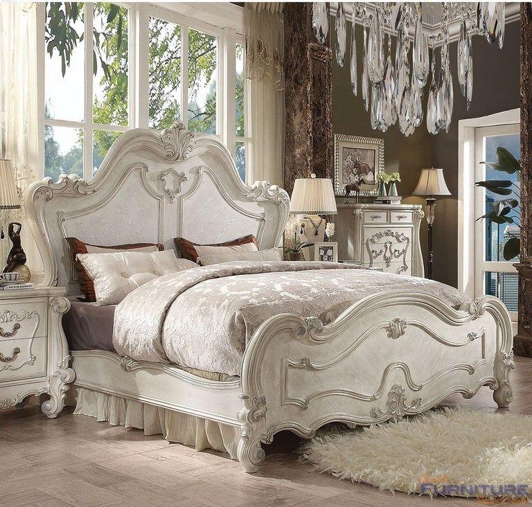 Acme Furniture Versailles California King Bed In Bone White 21754ck Bedroom Sets Queen Bedroom Set King Bedroom
