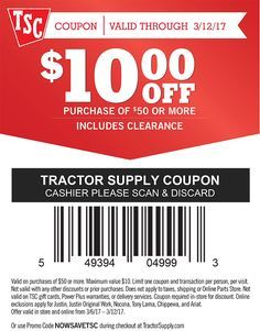tractor coupon code