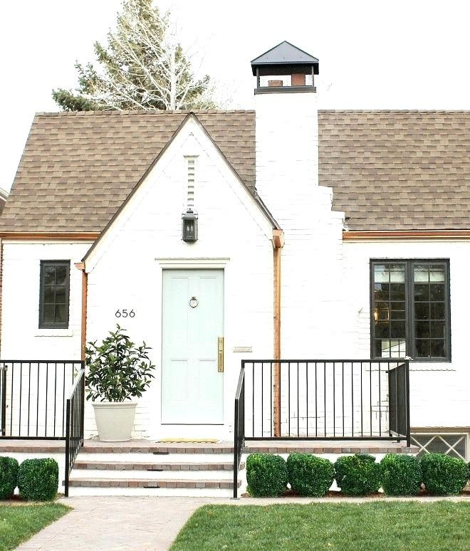 White Painted Brick House Exciting White Exterior Masonry Paint A Colors  Painting Interior Decoration Ideas Painted