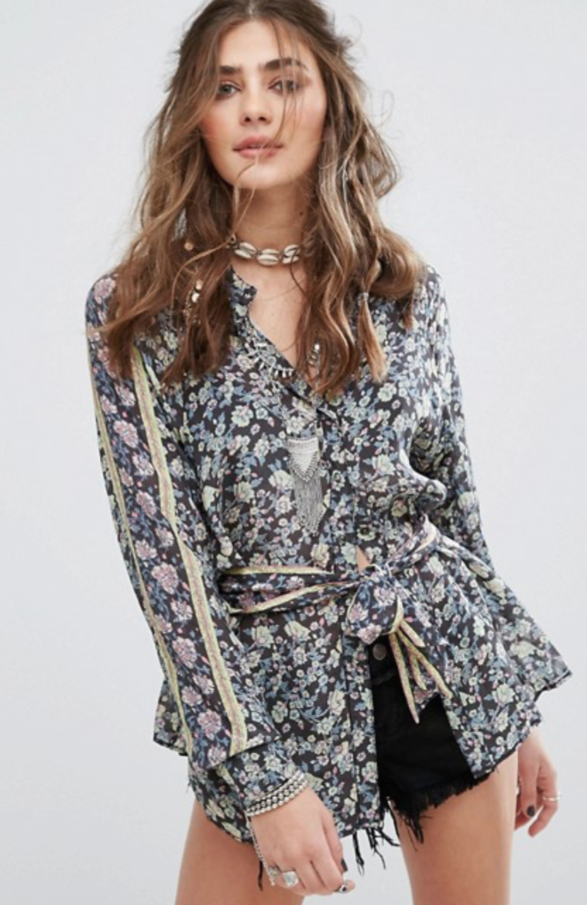 Free People Skyway Drive-In Blouse
